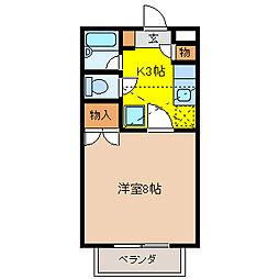 ファンタジーD棟[2階]の間取り