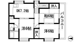 [一戸建] 大阪府箕面市桜ケ丘1丁目 の賃貸【/】の間取り