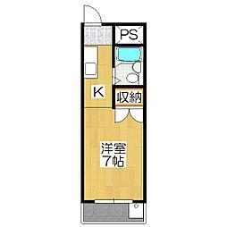 シャンブル伊川[303号室]の間取り
