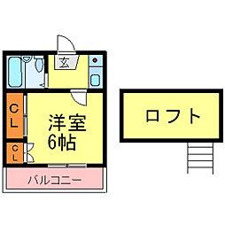 兵庫県尼崎市水堂町2丁目の賃貸アパートの間取り