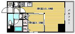 レオンコンフォート北浜[10階]の間取り