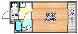 ダンディライオン石屋川[204号室]の間取り