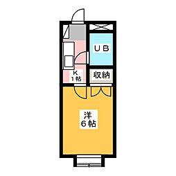 ハイツ亜巣実[1階]の間取り