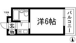 シャンブルド甲東園[4階]の間取り