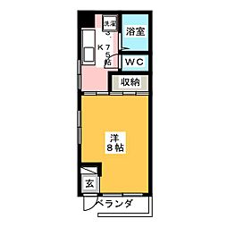 アビタシオン黛第2[1階]の間取り