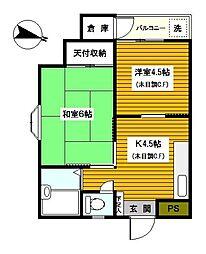 神奈川県川崎市川崎区池上町の賃貸マンションの間取り