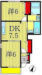 ディセット大金平[1階]の間取り