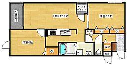 仮)グリーンフルハウス[3階]の間取り