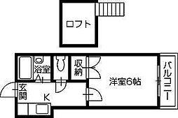 ブリリアントキューブIII[203号室]の間取り