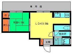 松永アパート[101号室]の間取り