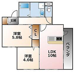 (仮称)小松町マンション[1階]の間取り
