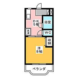 メゾンリサイア[4階]の間取り