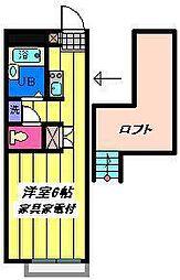 埼玉県さいたま市北区大成町の賃貸アパートの間取り