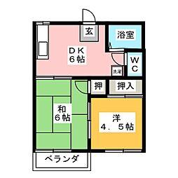 サンピアゴトーA[2階]の間取り