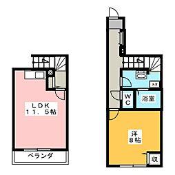 プランドール颯[1階]の間取り