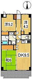 フジプラザマンション[5階]の間取り