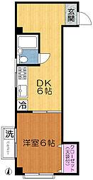 京成本線 新三河島駅 徒歩2分の賃貸マンション 3階1DKの間取り
