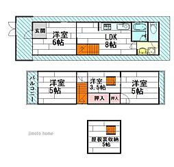 [一戸建] 大阪府茨木市駅前2丁目 の賃貸【/】の間取り