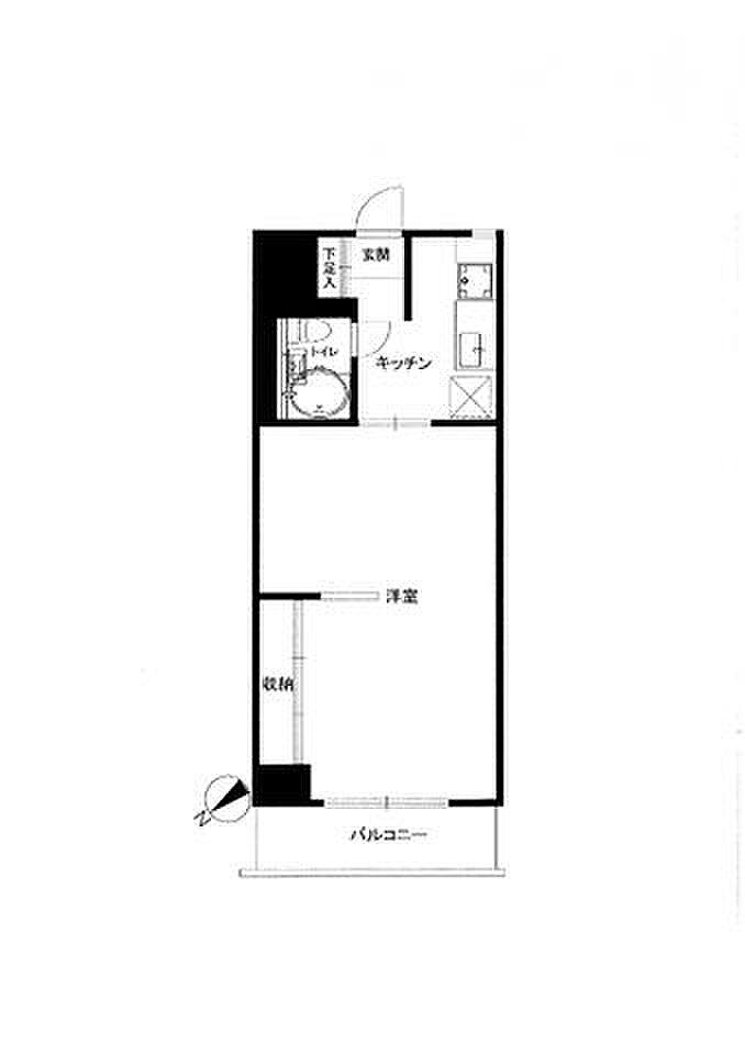 間取り(無駄な梁が無く綺麗な間取りです。家具家電などの配置がしやすく、スペースの有効活用が出来ます。間取りやスペースに合わせてベッドやソファーなど家具家電の買い替えの必要ありません。)