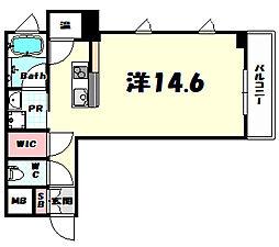 KAISEI神戸北野町 2階ワンルームの間取り