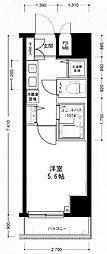 東京都中央区日本橋小伝馬町の賃貸マンションの間取り