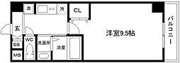 セブン日本橋2丁目 1階1Kの間取り