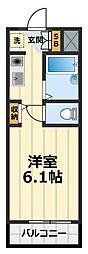 神奈川県大和市中央7丁目の賃貸アパートの間取り