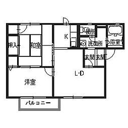 ファイン森[2階]の間取り