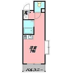 シャトレヴェール守口 2階ワンルームの間取り