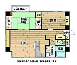 珪州館[8階]の間取り