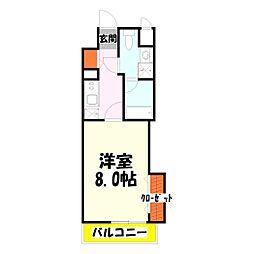 シャルマン青井[2階]の間取り