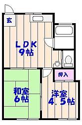 ベストマンション[302号室]の間取り