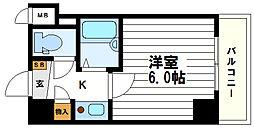 淡路ハイツ[4階]の間取り