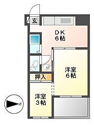 七福ビル[4階]の間取り