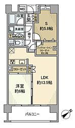 東京都台東区上野7丁目の賃貸マンションの間取り