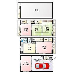 [一戸建] 大阪府東大阪市太平寺2丁目 の賃貸【/】の間取り
