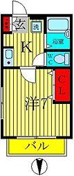 BFハウス[1階]の間取り