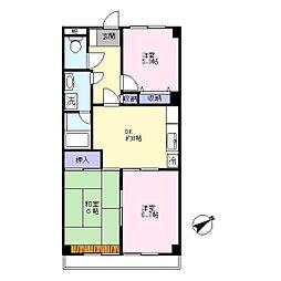 第二村田マンション[1階]の間取り