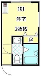 パティオ板橋徳丸[1階]の間取り