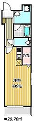 JR総武線 西船橋駅 徒歩18分の賃貸マンション 3階ワンルームの間取り