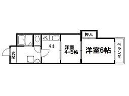 京都ノーザンフラット[2階]の間取り