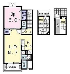 R-グレイa[3階]の間取り