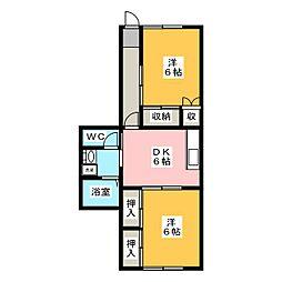 コーポシティ21[1階]の間取り