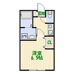 東京都葛飾区白鳥2丁目の賃貸アパートの間取り