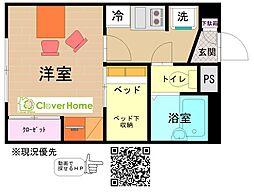 東京都町田市高ヶ坂2丁目の賃貸アパートの間取り