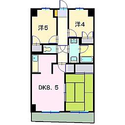 MKマンション第三A棟[206号室]の間取り
