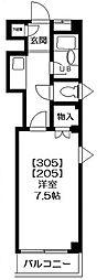 アムールISHIZUKA(野田市)[205号室号室]の間取り