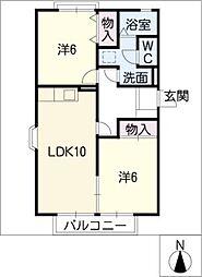 エクスト−ル勝川[1階]の間取り