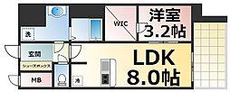 Osaka Metro中央線 深江橋駅 徒歩9分の賃貸マンション 12階1LDKの間取り