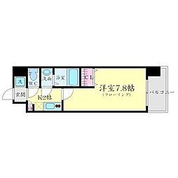 エスリード新大阪CONFORTII番館 1階1Kの間取り